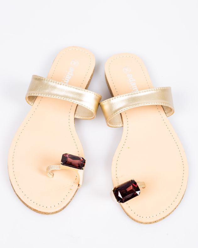 Papuci-Adams-cu-talpa-joasa-si-accesoriu-din-metal-1911505001
