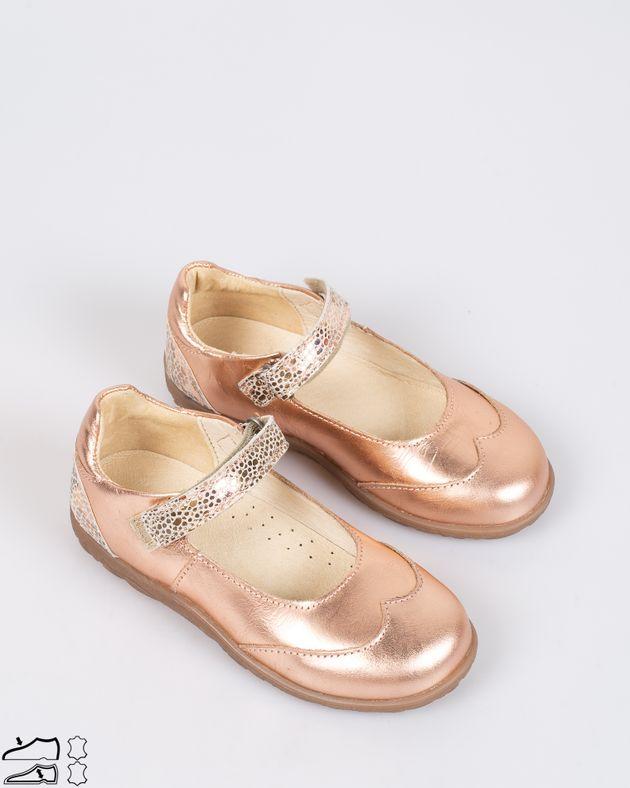 Pantofi-fete-din-piele-aturala-cu-aspect-metalizat-si-bareta-cu-sistem-de-prindere-cu-arici-1926308007