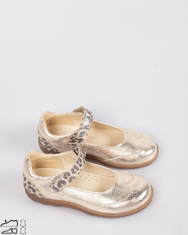 Pantofi-fete-din-piele-aturala-cu-aspect-metalizat-si-bareta-cu-sistem-de-prindere-cu-arici-1926308008