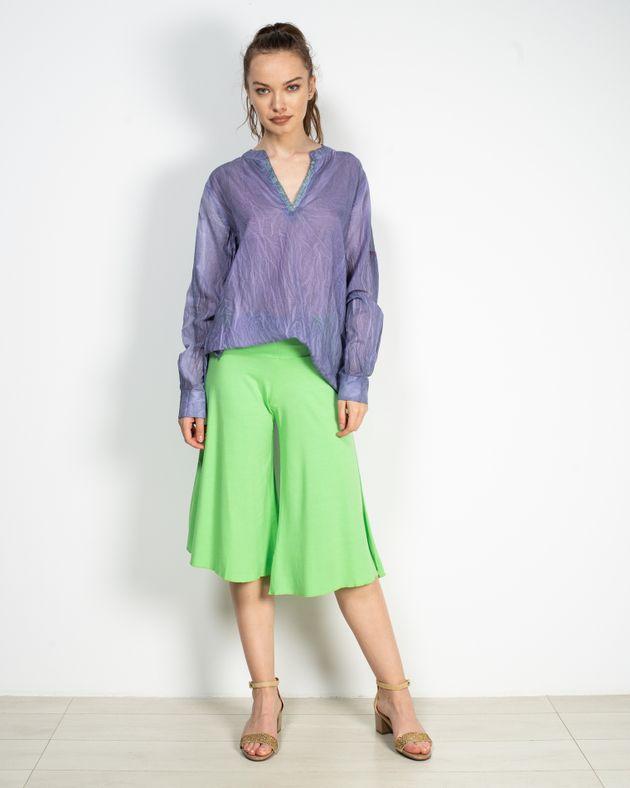 Pantaloni-trei-sferturi-evazati-cu-talie-elastica-N906004001