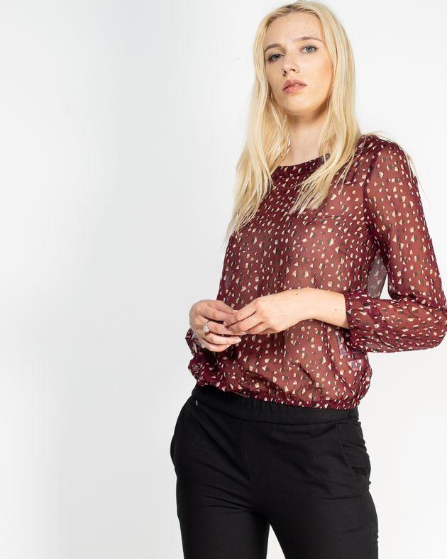 Bluza-transparenta-cu-imprimeu-si-talie-elastica-N910003001
