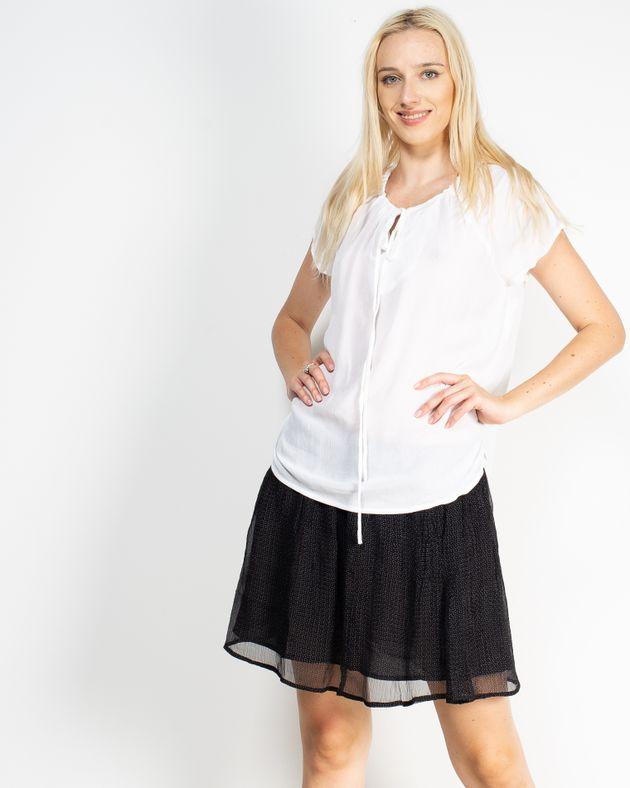 Bluza-casual-cu-maneca-scurta-si-snur-la-baza-gatului-N910015001