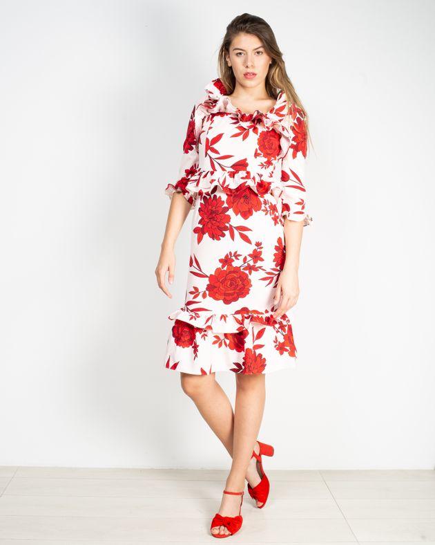 Rochie-eleganta-cu-imprimeu-floral-si-maneca-trei-sferturi-cu-fermoar-la-spate-1935801011