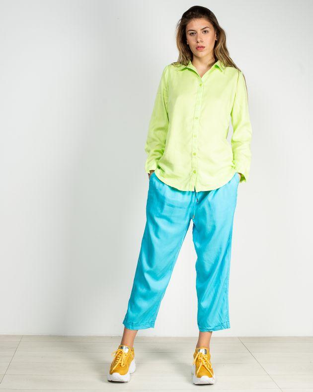 Pantaloni-trei-sferturi-cu-talie-elastica-si-buzunare-N911009001