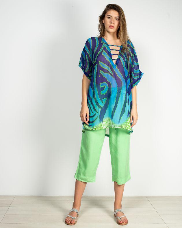 Pantaloni-trei-sferturi-cu-talie-elastica-si-buzunare-N911009003
