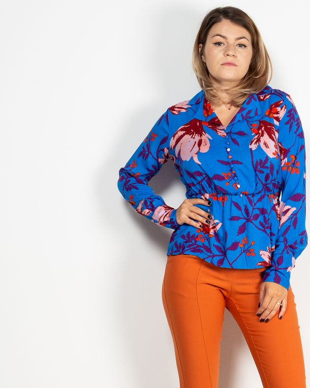 Bluza-cu-guler-si-imprmeu-floral-cu-talie-elastica-1940512007