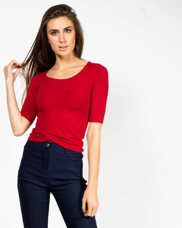 Bluza-casual-cu-maneca-trei-sferturi-si-decolteu-V-la-spate-1935802031-