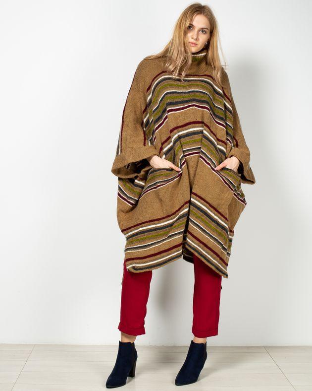 Poncho-tricotat-oversize-cu-guler-inalt-si-buzunare-19503F5007