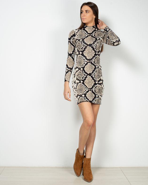 Rochie-scurta-tricotat-cu-maneca-lunga-si-model-aztec-1950406004