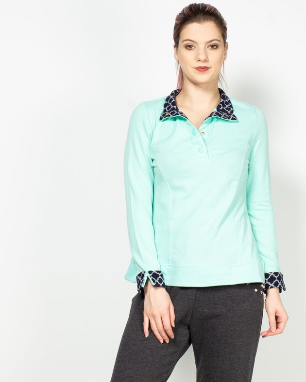 Bluza-casual-cu-maneca-lunga-si-guler-prevazut-cu-capse-N915012003