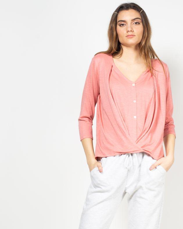 Bluza-casual-cu-maneca-trei-sferturi-si-decolteu-cu-nasturi-N91802008