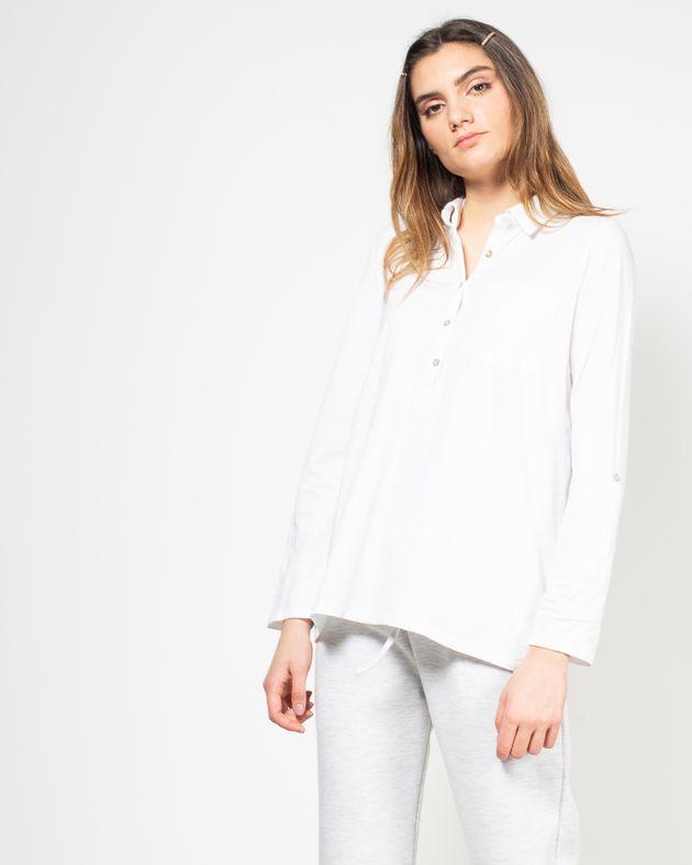 Bluza-cu-maneca-ajustabila-si-decolteu-prevazut-cu-nasturi-N91802015