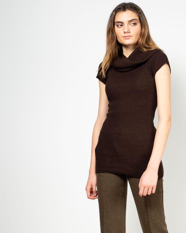 Pulover-tricotat-lung-cu-maneca-scurta-1942801011