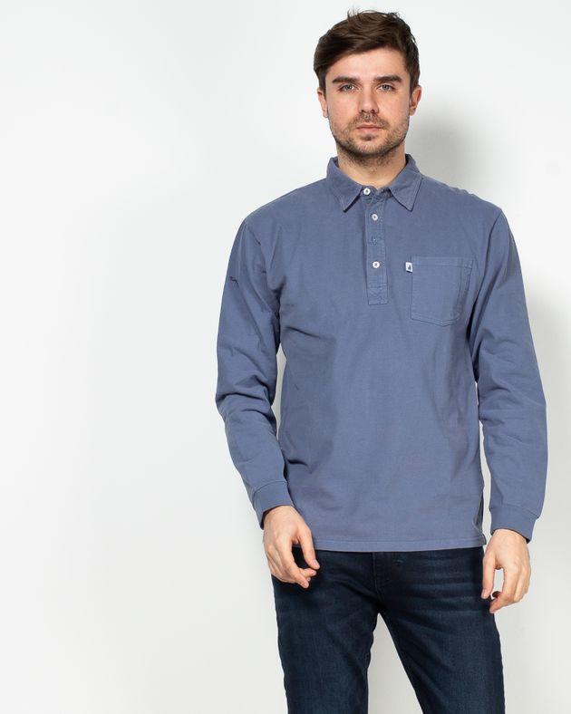 Bluza-din-bumbac-cu-guler-prevazut-cu-nasturi-si-buzunar-aplicat-N915029002