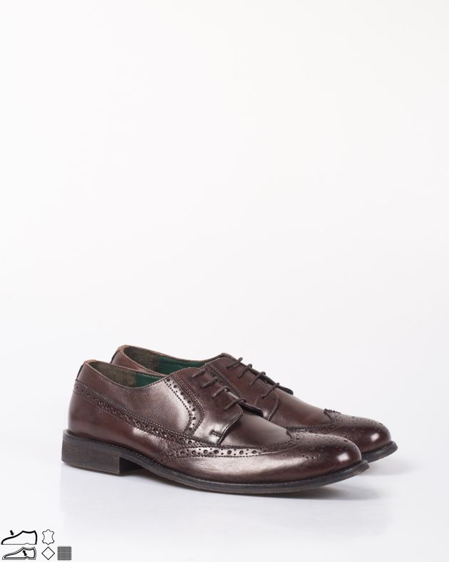 Pantofi-din-piele-natrurala-cu-siret-si-model-perforat-N92126007