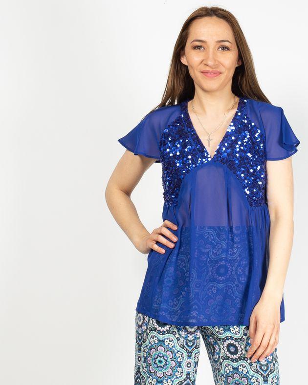 Bluza-casual-cu-paiete-si-maneca-scurta-N925011005