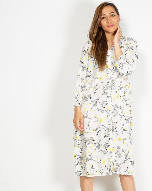 Rochie-casual-cu-imprimeu-floral-si-anchior-prevazut-cu-nasturi-N91903026