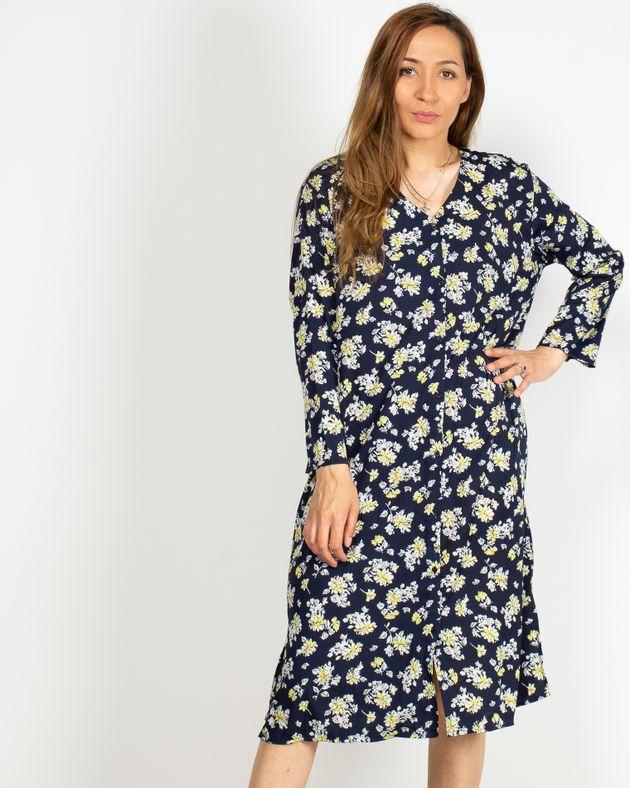Rochie-casual-cu-imprimeu-floral-si-decolteu-prevazut-cu-nasturi-N91903041