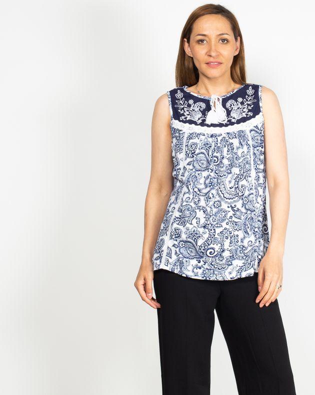 Bluza-fara-maneci-cu-imprimeu-si-model-bordat-in-partea-de-sus-N91910001