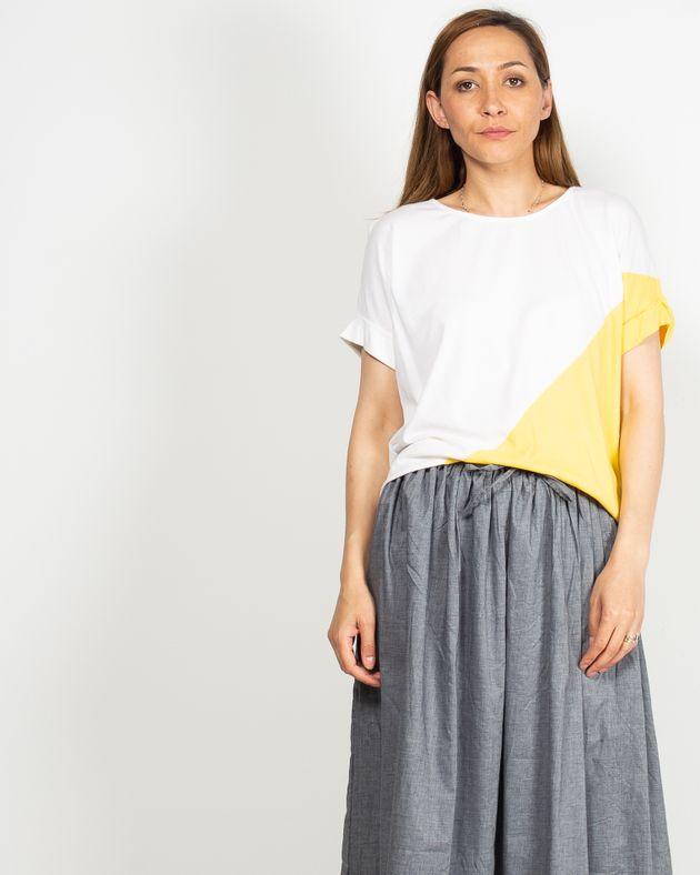 Tricou-casual-cu-maneca-lasata-N91910118