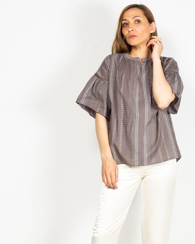 Bluza-casual-din-bumbac-cu-maneca-scurta-N91913005