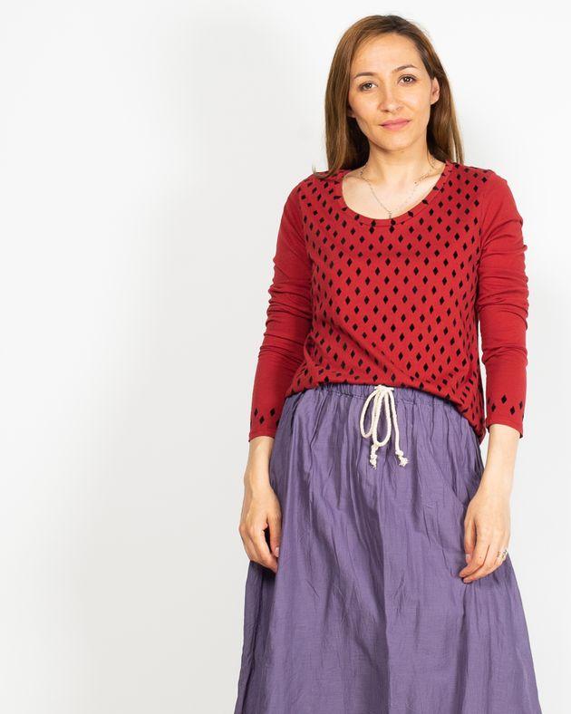 Bluza-casual-cu-imprimeu-si-decolteu-rotuind-N91942004