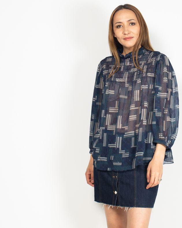 Bluza-casual-transparenta-cu-guler-si-nasturi-la-spate-N91913012