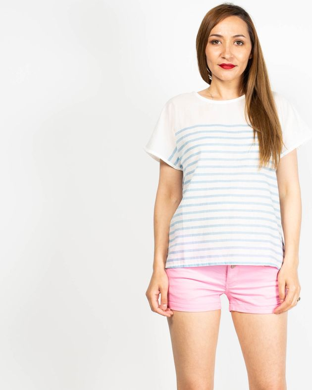 Bluza-transparenta-cu-dungi-si-maneca-scurta-N91913039