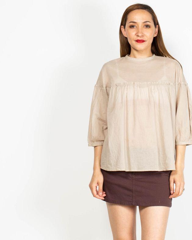 Bluza-din-bumbac-cu-maneca-trei-sferturi-si-nasturi-N91913046