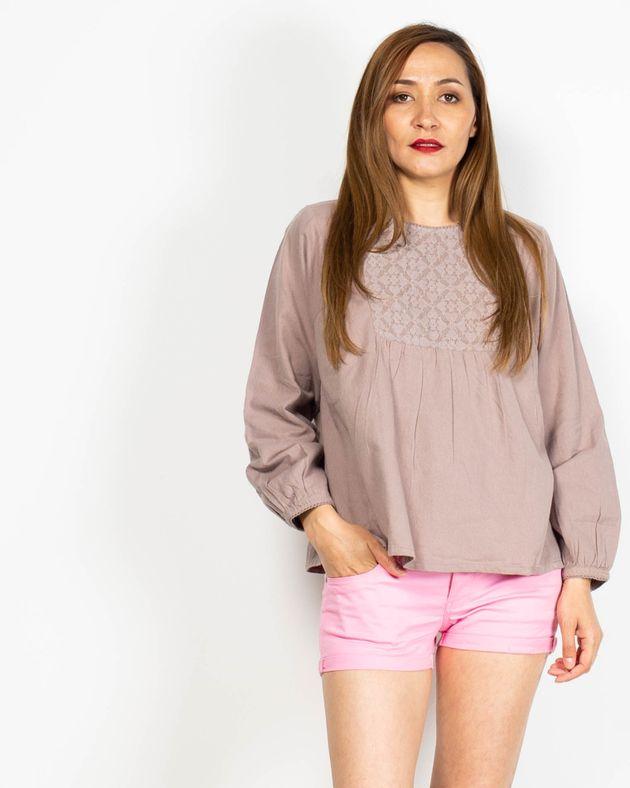 Bluza-casual-cu-maneca-lunga-si-dantela-la-baza-gatului-N91913055