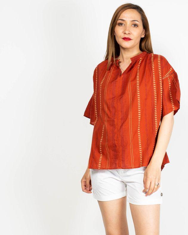 Bluza-casual-cu-imprimeu-si-maneca-scurta-N91942049