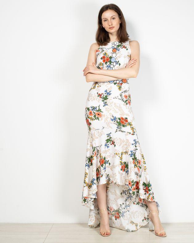 Rochie-dama-Axel-lunga-cu-model-floral