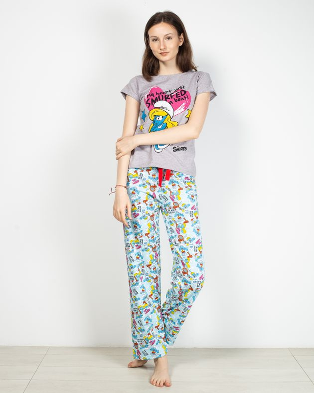 Pijamale-cu-mesaj-imprimat