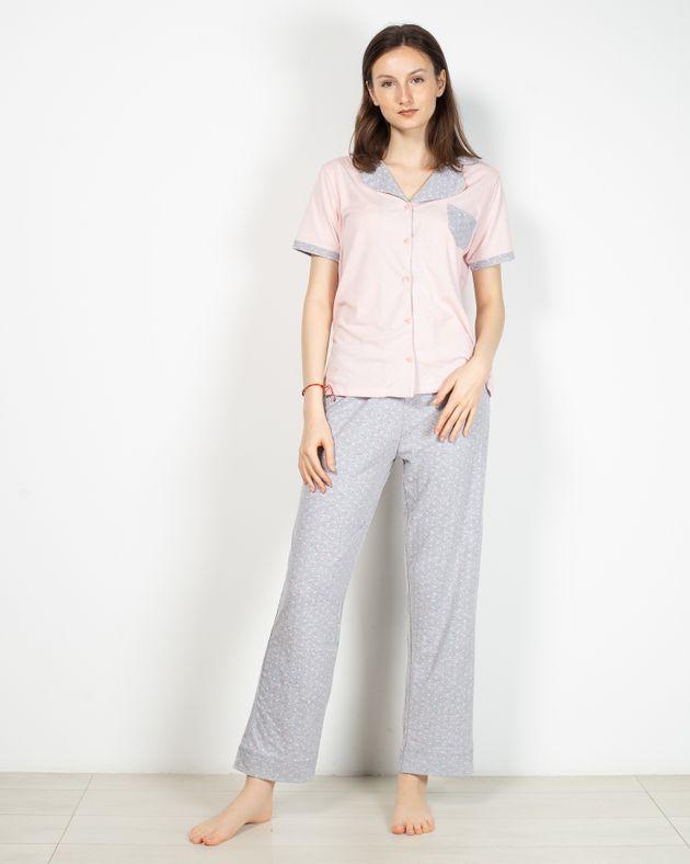 Pijamale-din-bumbac-cu-nasturi-si-buline