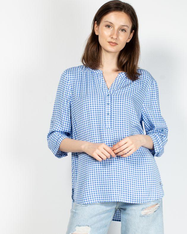 Bluza-casual-in-carouri-cu-decolteu-prevazut-cu-nasturi