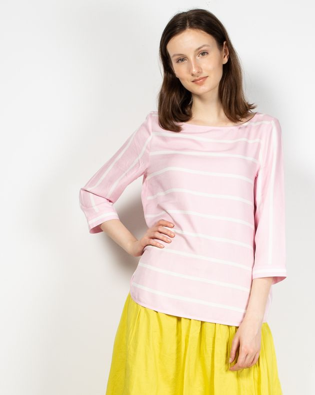 Bluza-casual-cu-maneca-trei-sferturi
