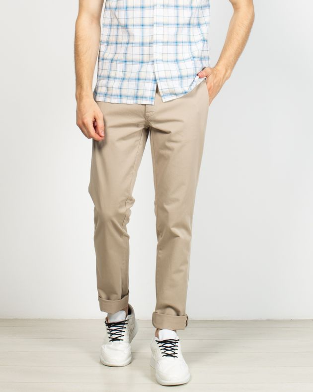 Pantaloni-slim-fit-cu-buzunare-si-nasturi