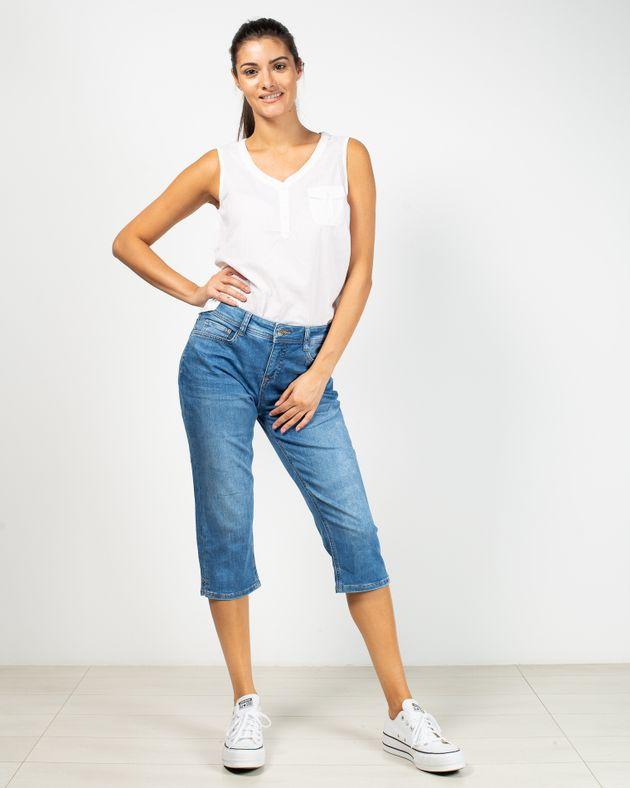 Jeans-trei-sferturi-cu-talie-medie