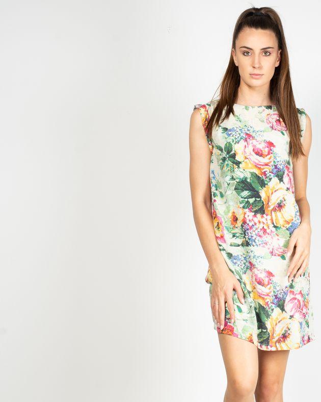 Rochie-fara-maneca-cu-imprimeu-floral-si-fermoar-la-spate