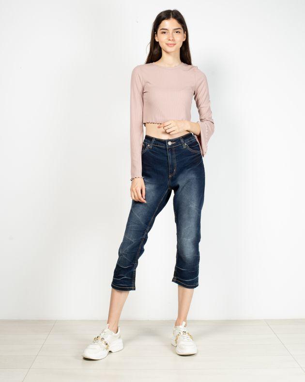 Jeans-trei-sferturi-cu-buzunare