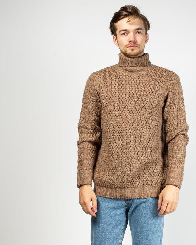Pulover-tricotat-gros-cu-guler-inalt
