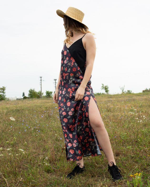 Rochie-cu-bretele-reglabile-si-imprimeu-floral