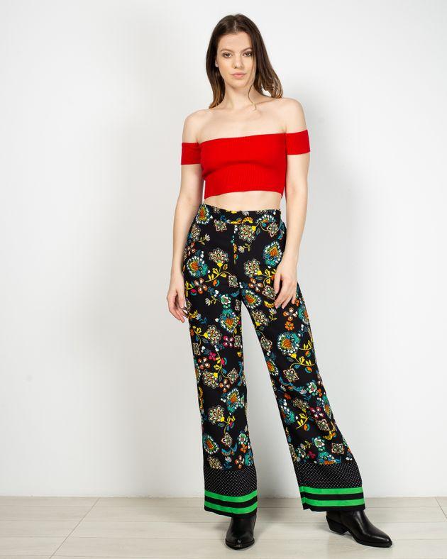 Pantaloni-cu-imprimeu-si-talie-elastica