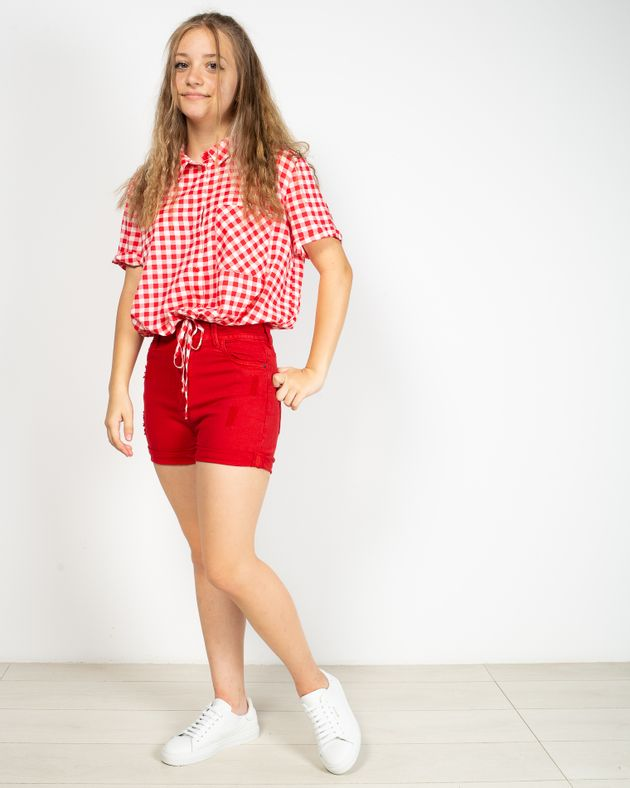 Pantaloni-scurti-din-denim-cu-buzunare-si-fermoar