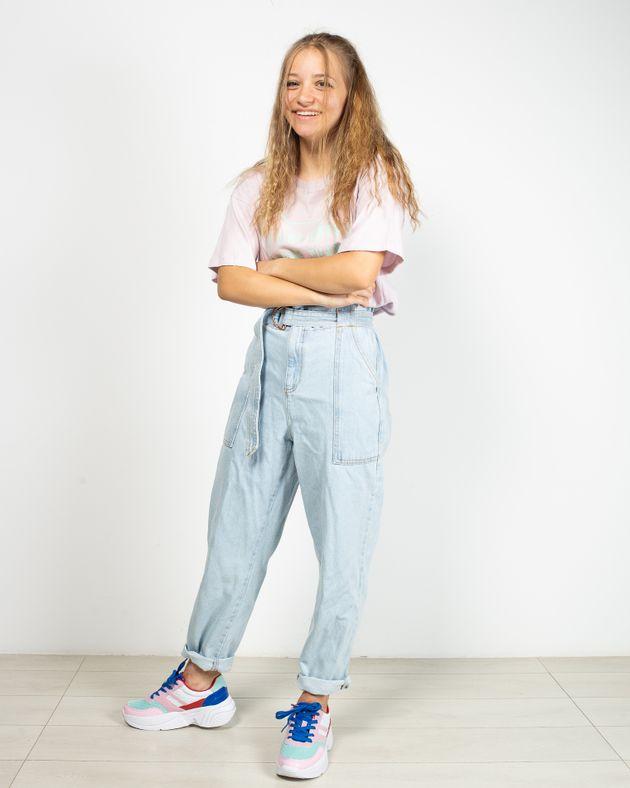 Jeans-din-bumbac-cu-talie-inalta