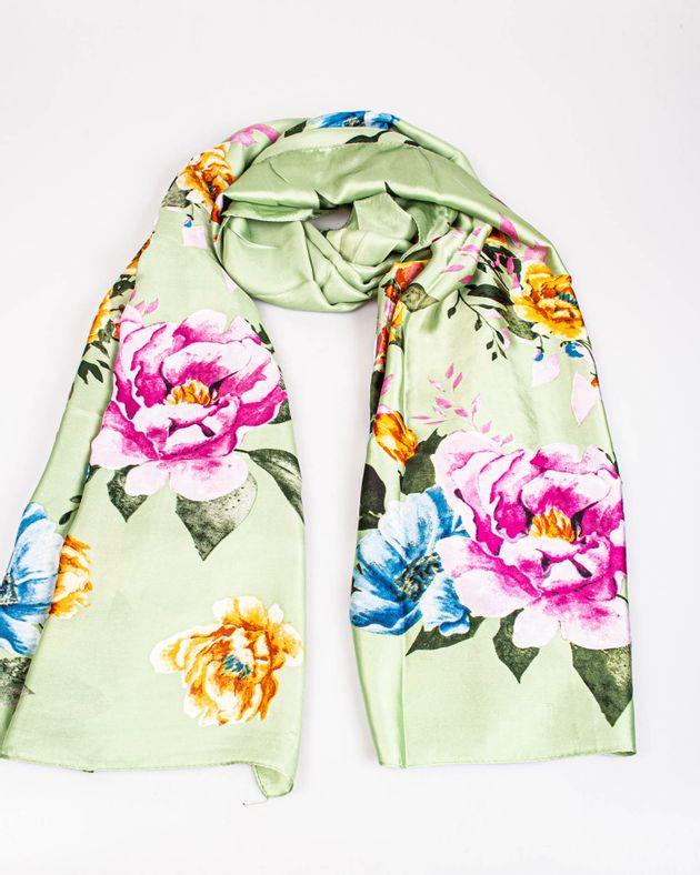 Esarfa-verde-cu-imprimeu-floral