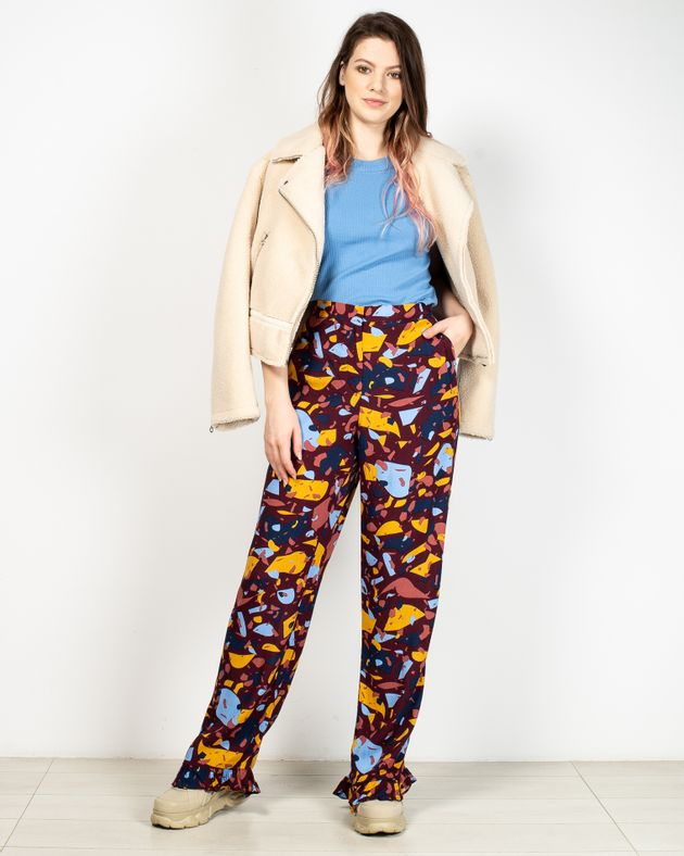 Pantaloni-usori-transparenti-cu-talie-inalta-si-buzunare