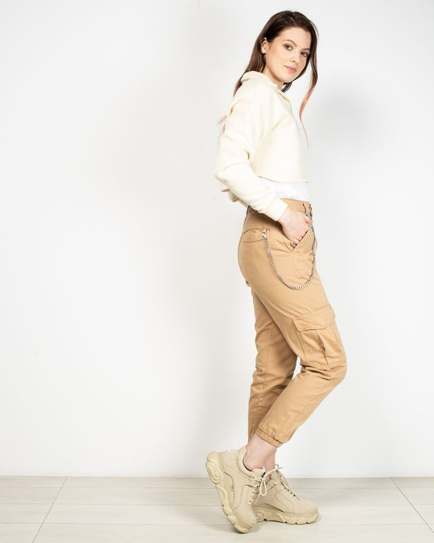 Pantaloni-dama-din-bumbac-cu-buzunare
