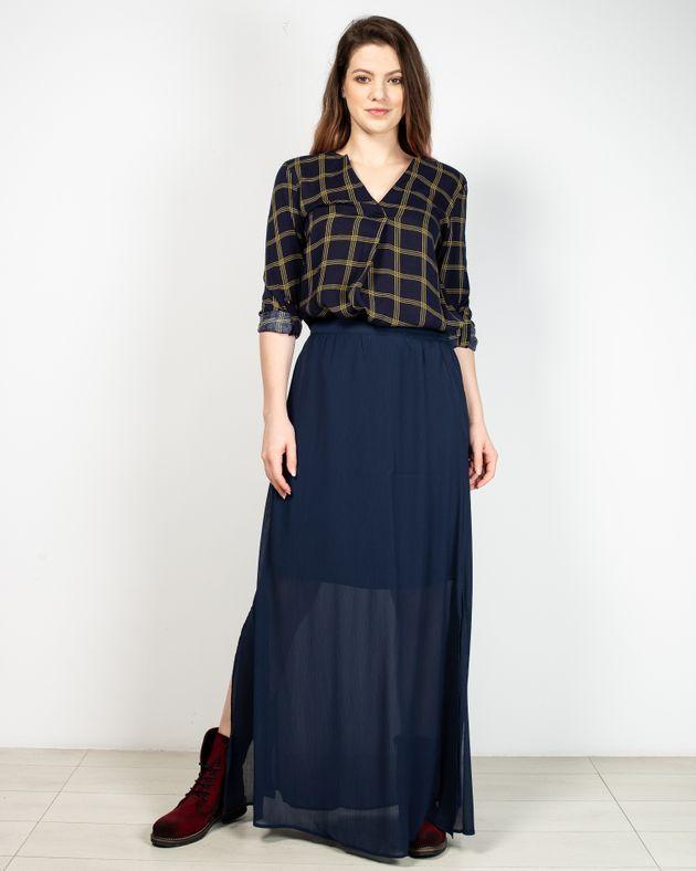 Bluza-usor-transparenta-in-carouri-cu-maneca-ajustabila