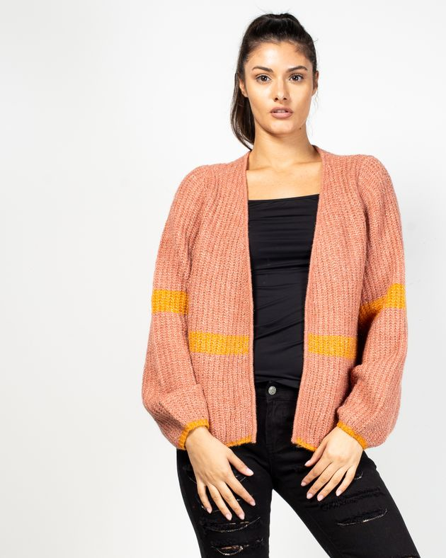 Cardigan-tricotat
